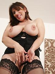 Busty MILF loves black cock!