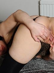 Amazing brunette MILF enjoying herself