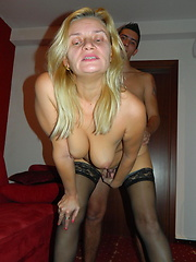 Young student fucking his older blonde teacher