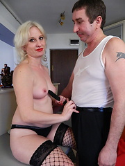 Man fucks blonde wife in all her dirty holes