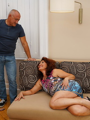 Naughty housewife fucking and sucking