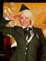 Military mature in uniform solo masturbation