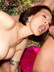 Two Cocks For An Asian Wife's Asshole