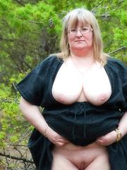 Fat mature moms and grannies with half no dress