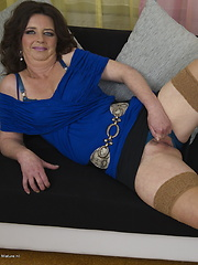 Naughty mature lady playing with herself